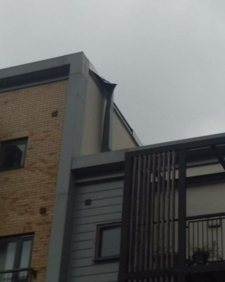 A part of the rood at Orchard Village detached from the building last week. Circle Housing, which ma