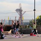 Yoga at Roof East in Stratford