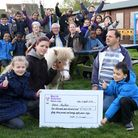 North Beckton Primary School donating a cheque to Newham City Farm