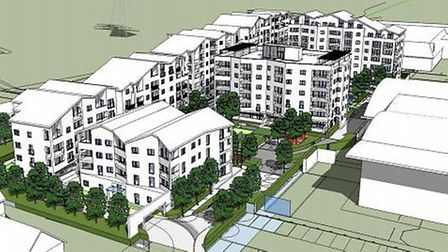 Screenshot of plans for Howard Road development in Chafford Hundred taken from Thurrock Councill web