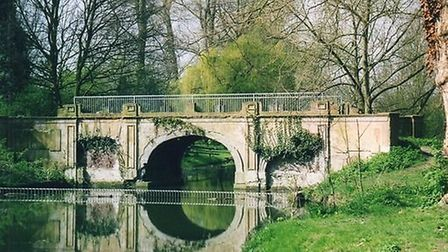 The renovated ornamental bridge in Parklands, Upminster. Photo: Andrew Griffiths