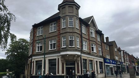 The former Barclays bank in High Road, Wanstead, is now occupied by a group of about 20 squatters. P