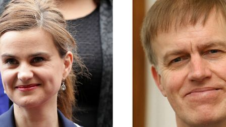 East MP Stephen Timms, right, survived a similar attack to Batley and Spen MP Jo Cox, left. Both wer