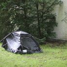 Residents have been left puzzled by a tent set up in Christ Church Green, High Street, Wanstead