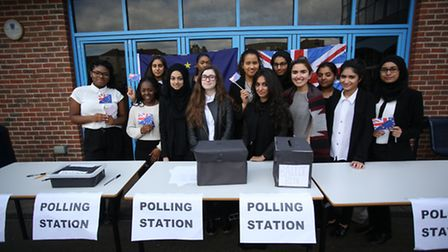 Year 12 politics students at Ursuline Academy Ilford created a polling station to enable the whole s