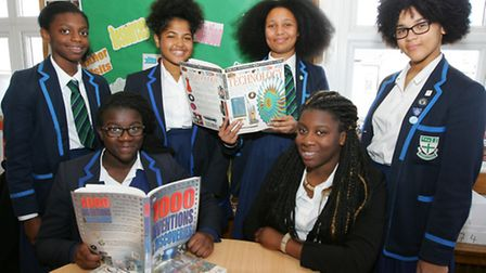 Six students from lford Ursuline High School pictured last year after attending a summer camp where