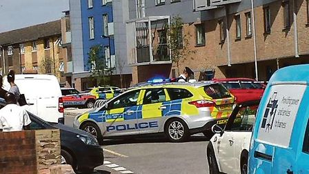 Nearly 100 police officers from across London attended the scene at the Orchard Village estate, Rain