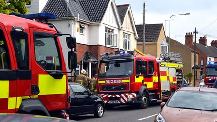 Fire crews were called to a house fire in Lowestoft