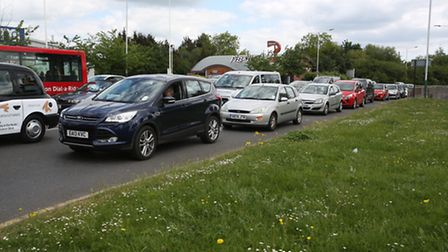 Rom Valley Way car park near Queen's Hospital has closed at the end of last month causing chaos on R