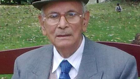Basant Lal Sharma, 91, who died on Tuesday following a collision in High Street, Wanstead