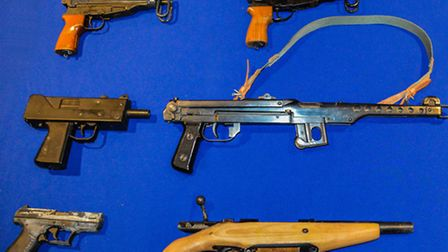 Some of the guns seized from London's streets