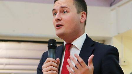 MP Wes Streeting saying a few words.