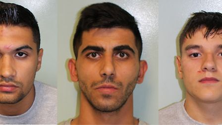Three men have been jailed for more than 14 years for violent robberies in Ilford and Romford. From