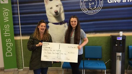 Fundraising manager Natalie Wood with 13-year-old guide Caitlin Taylor