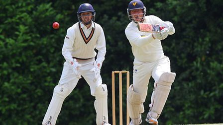 Jack Kliber in batting action for Shenfield (pic: TGSPHOTO)