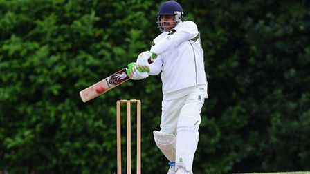 Arhad Ali in batting action for Shenfield (pic: TGSPHOTO)