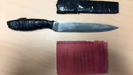One of the knives seized by police in Newham during Operation Sceptre