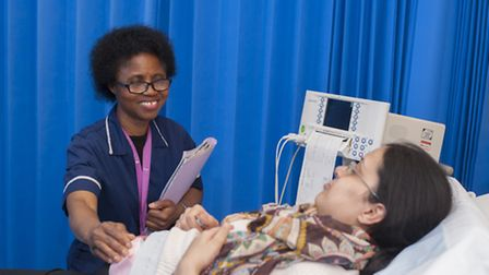 A patient being treated at Newham University Hospital. Picture: Barts Health Trust.