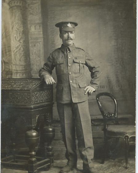A photograph of Stephen Stannard, who was killed on the first day of the Battle of the Somme. Pictur