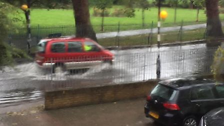 Flooding in Hermit Road, Plaistow (Pic: Fluffy-Diva Ajm)