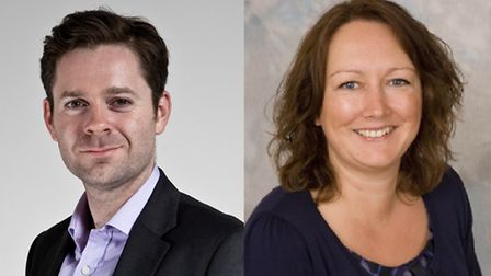 Simon Parker, left, will be Redbridge Council's new corporate director of strategy, while Caroline B