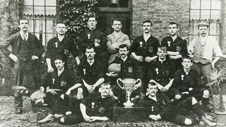 East Thames Iron Works FC sqaud in 1896