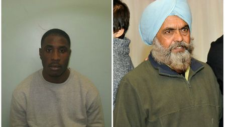 Tyrone Jacobs, left, was jailed for the murder of Harbhajan Singh Rooprai, right