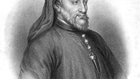 Illustrated portrait of English poet Geoffrey Chaucer, author of 'The Canterbury Tales'. (Photo by A