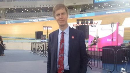 Stephen Timms MP at the EU referendum count