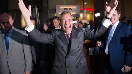 UKIP Leader Nigel Farage speaking in London where he claimed victory for the Leave campaign (Stefan