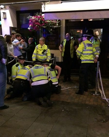 Door staff called officers on the radio which led to the arrest of a man