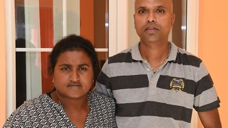Palasupramaniam and Kaviprya Paladhanushan whose children were driven off in their parents stolen ca