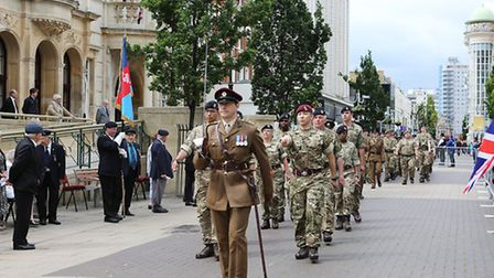 Redbridge Town Hall, High Road, Ilford - Armed Forces Day parade