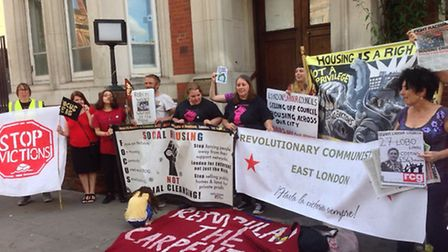 Focus E15 protesters occupied the former police station in East Ham