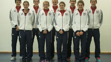 Tom Toolis (back row, far right) with other members of the GB Modern Pentathlon squad (pic: claregre