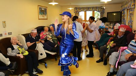 Meadow Court residents sing a long with entertainers at the open day