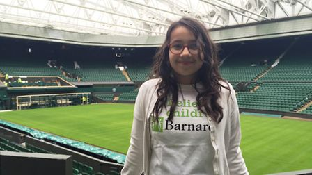Uma Baker-Bahl at Centre Court at The All England Club, Wimbledon, where she will toss the coin ahea