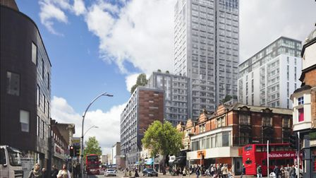 The 30 storey tower block redevelopment of the Harrison and Gibson building, which will contain 321