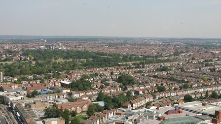 Views of Ilford from the roof of Pioneer Point