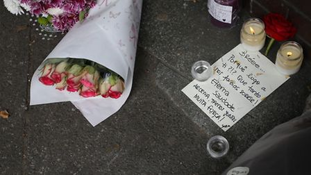 Flowers and tributes left outside West Ham Lane Recreational Ground