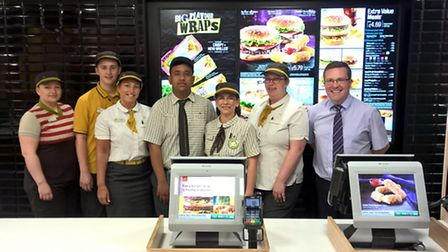 The Mercury Mall's McDonalds will soon have the option of table service.
