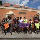 Swaminarayan House Temple followers took part in a charity bike ride starting in Newham