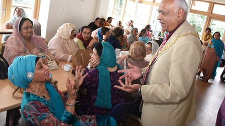 The Redbridge Disabled Women's Welfare Association holding a welcome lunch for the new mayor of Redb