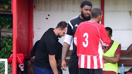 Andre Thomas talks to a Clapton player (pic: Tim Edwards)