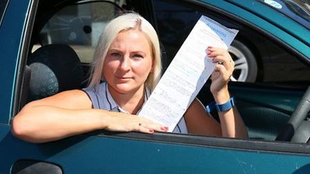 Katie Barden from Hornchurch, is challenging a parking ticket fine with the council.