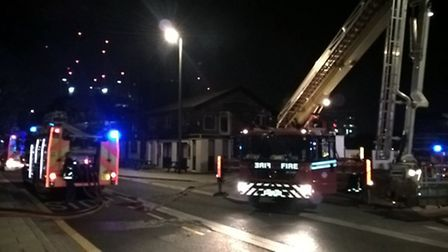 Fire crews from Stratford, Leytonstone, Plaistow and Poplar fire stations attended the scene. Pictur