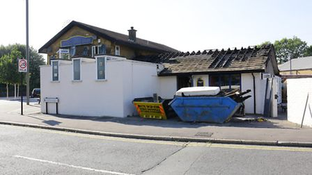 Fire damage at the Carpenters Arms pub