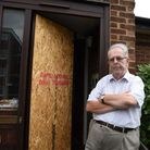 Former councillor Morris Hickey is annoyed about the police breaking down his door after a neighbour