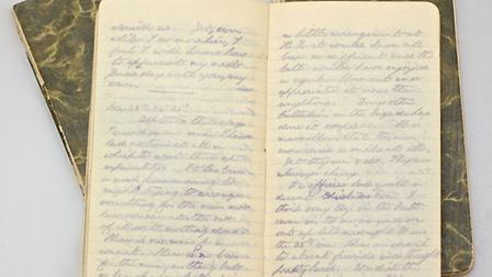 One of the diaries written by Charlie May, who was killed at the Battle of the Somme. Picture: Gerry