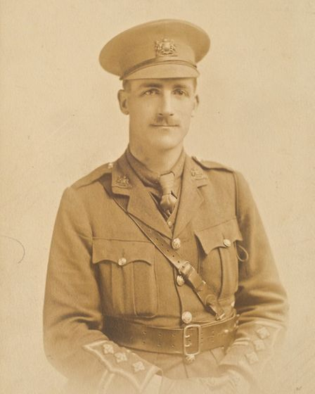 Capt Charlie May, who was killed at the Battle of the Somme. Picture: Gerry Harrison/Redbridge Museu